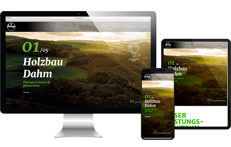 BRANDIT REDESIGN WEBSITE HOLZBAU DAHM 000